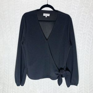 Madewell Texture & Thread Knit Wrap Top Blouse - L